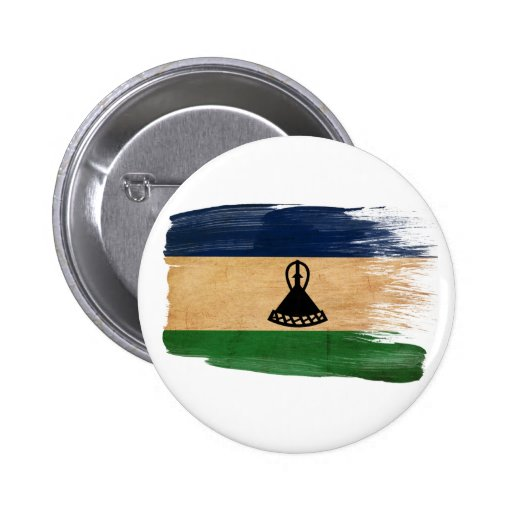 Lesotho Flag Pinback Buttons