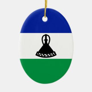 Lesotho Flag Ceramic Ornament