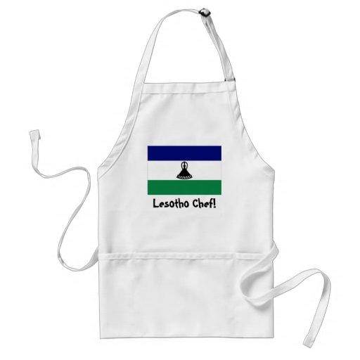 Lesotho flag chef apron
