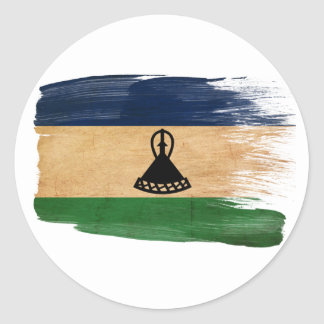 Lesotho Flag Classic Round Sticker