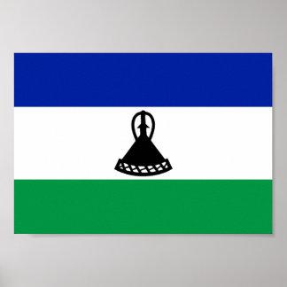 Lesotho Flag Poster