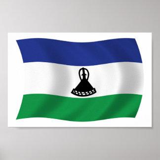 Lesotho Flag Poster Print