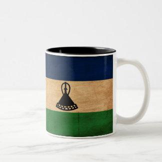 Lesotho Flag Two-Tone Coffee Mug