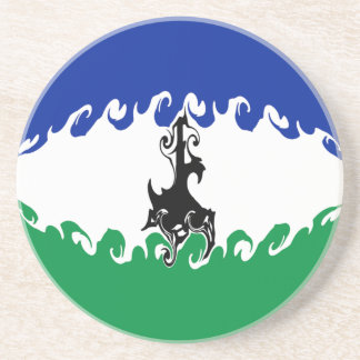 Lesotho Gnarly Flag Drink Coaster