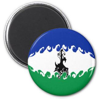 Lesotho Gnarly Flag Magnet