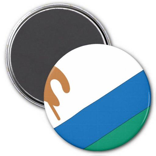 Lesotho Imán Redondo 7 Cm