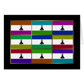 Lesotho Multihue Flags Greeting Card