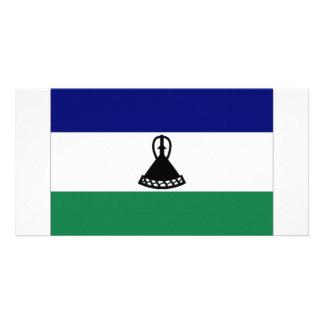 Lesotho National Flag Custom Photo Card