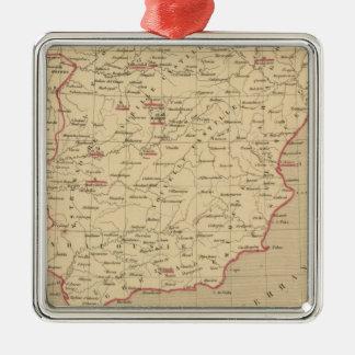 L'Espagne 1492 un 1640 Adorno Navideño Cuadrado De Metal