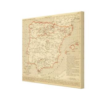 L'Espagne 756 a 1030 Canvas Print