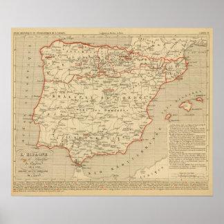 L'Espagne 756 a 1030 Poster