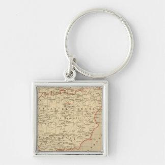 L'Espagne 756 a 1030 Silver-Colored Square Keychain