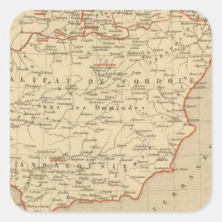 L'Espagne 756 a 1030 Square Sticker