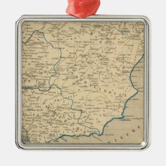 L'Espagne sous les Romains 409 ans apres JC Square Metal Christmas Ornament