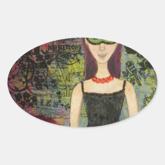 L'Espoir Oval Sticker