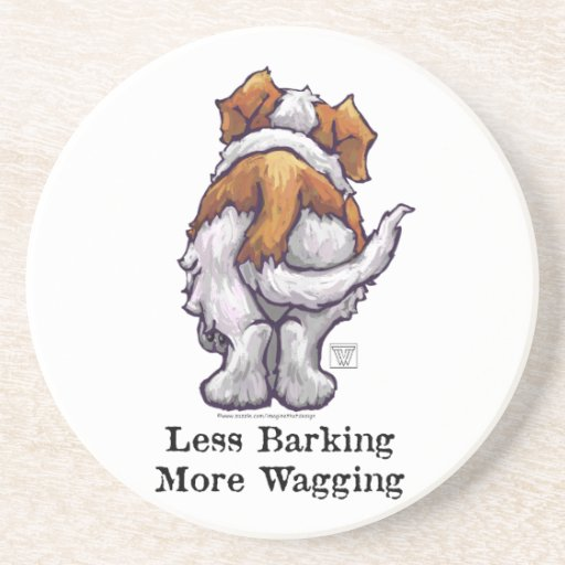 Less Barking, More Wagging Drink Coasters