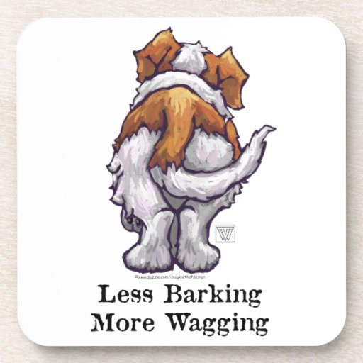 Less Barking, More Wagging Beverage Coaster