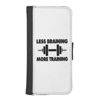 Less Braining More Training iPhone SE/5/5s Wallet Case