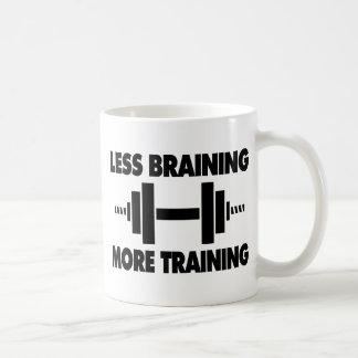Less Braining More Training Coffee Mugs