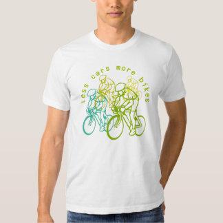 Less cars more bikes t shirt