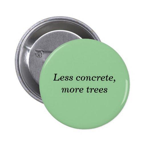 Less concrete, more trees button