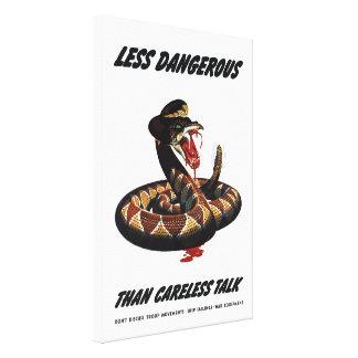 Less Dangerous Than Careless Talk Canvas Print