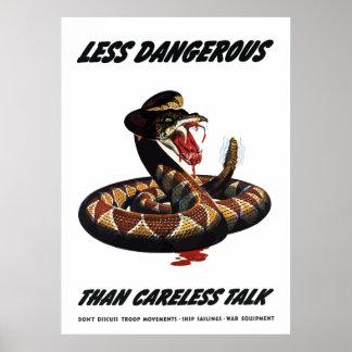 Less Dangerous Than Careless Talk Poster