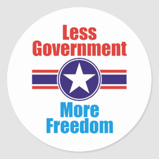 less government classic round sticker