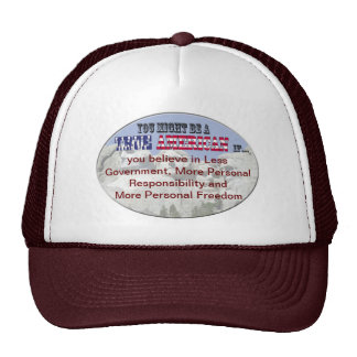 less government more responsibility freedom trucker hat