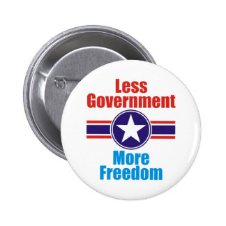 less government pinback button