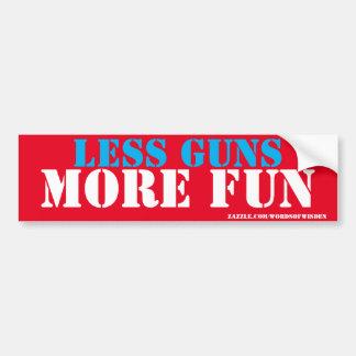 less guns more fun car bumper sticker