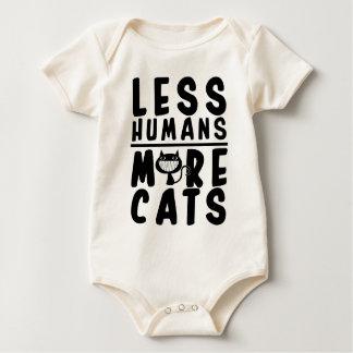 Less Humans, More Cat's Baby Bodysuit