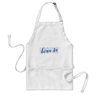 Less is more Minimalist Typography Design  Poster Adult Apron