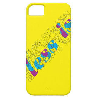 Less is more Minimalist Typography Design  Poster iPhone 5 Cases
