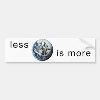 Less-Is-More-Sticker Bumper Sticker