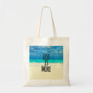 """""""Less is More."""" Typography Abstract Beach Scene Tote Bag"""