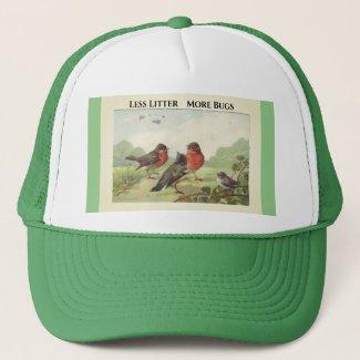 Less #Litter More Bugs Trucker Hat | Zazzle.com/lizardmarsh*