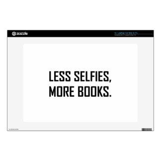 "Less Selfies More Books 13"" Laptop Skins"
