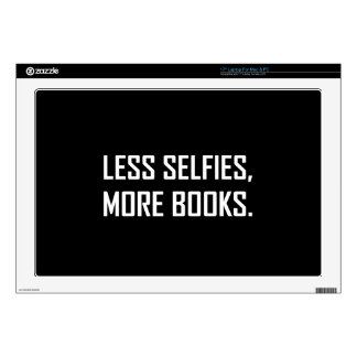 Less Selfies More Books Laptop Decal