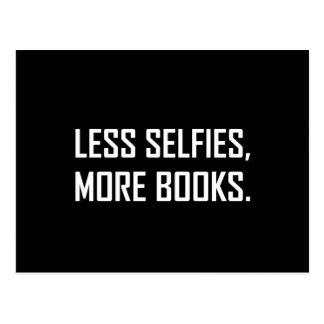 Less Selfies More Books Postcard