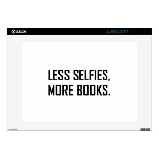 """Less Selfies More Books Skin For 15"""" Laptop"""
