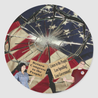 Less Spending Less Government Listen to the People Classic Round Sticker