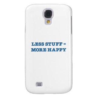 Less Stuff = More Happy (blue edition) Samsung Galaxy S4 Case