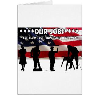 Less Talk More Jobs Card