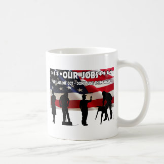 Less Talk More Jobs Classic White Coffee Mug