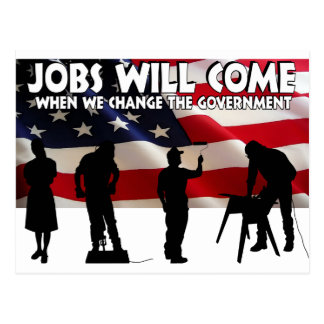 Less Talk More Jobs Postcard
