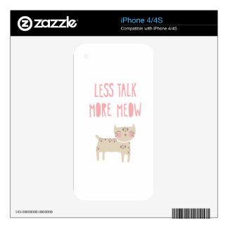Less Talk More Meow Decal For iPhone 4S