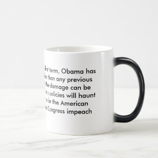 Less than halfway through his first term, Obama... Magic Mug