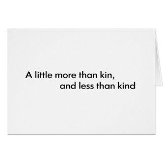 Less Than Kind Greeting Card
