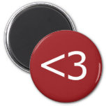 Less Than Three Heart 2 Inch Round Magnet